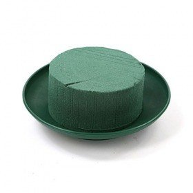 Floral foam on green base 12 cm midi