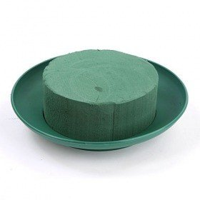 Floral foam on green base 27 cm maxi