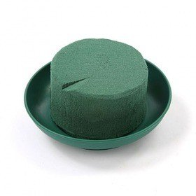 Floral foam on green base 8 cm mini