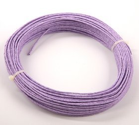 Floral wire in 12m violet paper