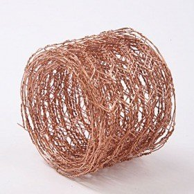 Floristic metal mesh, 5 cm wide, 2.5 m long - copper