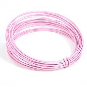 Floristic wire aluminum ring 5 m - pink