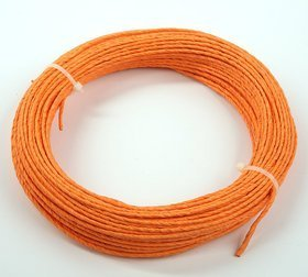Floristic wire in 12m paper, orange