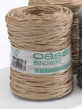 Floristic wire in beige paper 205 m Oasis