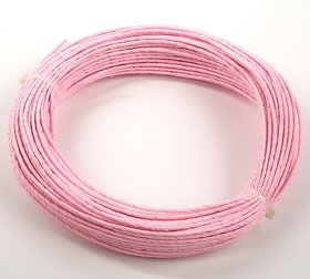 Floristic wire in pink paper 12m