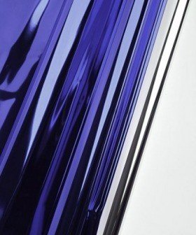 Foil film 50 x 70 cm, metallic, gloss, 50 sheets/pkg - navy blue