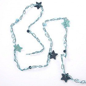 Garland blue stars on string 350 cm