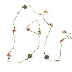 Garland of beads green-silver antique 4 m