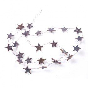 Garland stars lilac on wire 150 cm