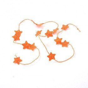 Garland stars orange 100 cm