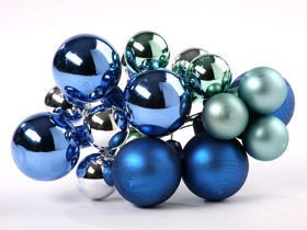 Glass balls on wire, 20-30 mm,bunch of 18 pcs