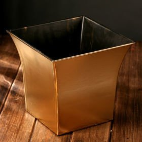 Gold flower pot, winter collection, height 21 cm
