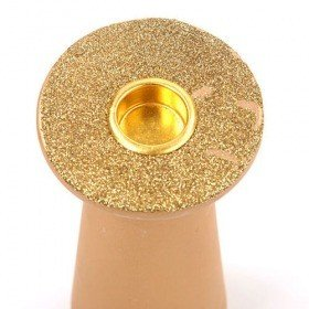 Gold glittered Candlestick