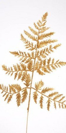 Gold, glittered Fern, 30-35 cm