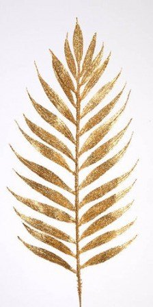 Gold, glittered Fern, 37 cm