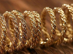 Gold metalized string 200cm