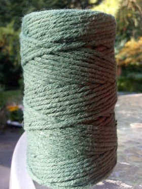 Green cotton string 100g approx. 40 m