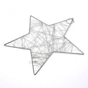 Hanger - silver star with sequins 25