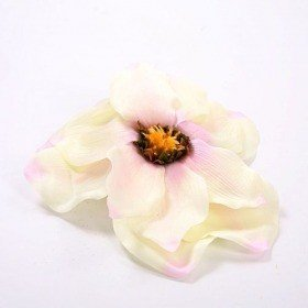 Heads of magnolia 18 cm 3 szt/op white/pink
