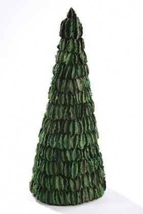 Husk Christmas tree, 10 cm high, green