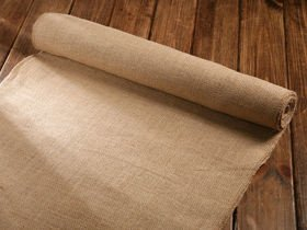 Jute fabric braid 30cm x 250 cm natural