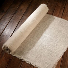 Jute fabric thick (320 g/m2)  50cm x 3 yd - bleached