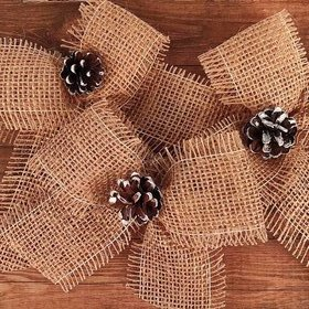 Jute ribbon,  18/15 cm 3 pcs / pack
