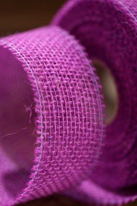 Jute ribbon 5 cm / 10 m purple