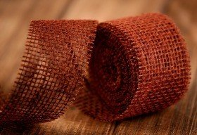 Jute ribbon 5 cm / 5 m brown