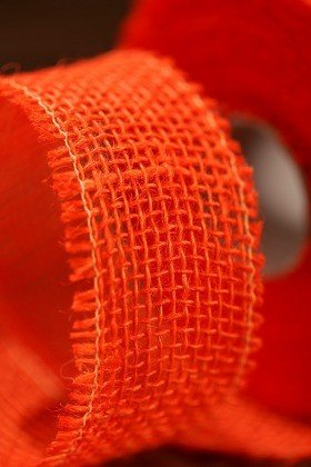 Jute ribbon 50cm x 5m - orange