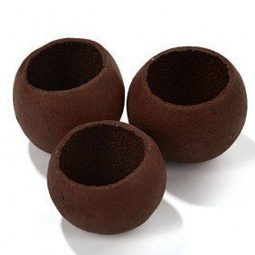 Lacquered/Mat Bell cup Mini 12pcs/pkg, brown