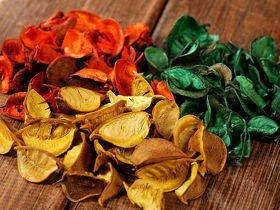 Leaves big holiday mix 100 g orange-yellow-green