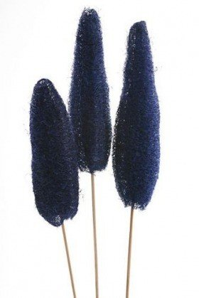 Luffa on stem 10-14 cm blue