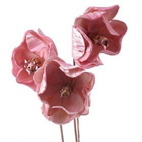 Magnolias sola on stick, 3 pcs/pkg - pink