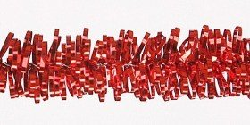 Mini-garland, thickness 0.8 cm/10 m, red