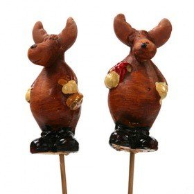 Moose in shoes on stick 26 cm