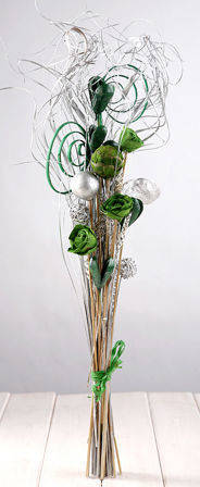 Natural Silver & Green Arrangement (ca. 30cm)
