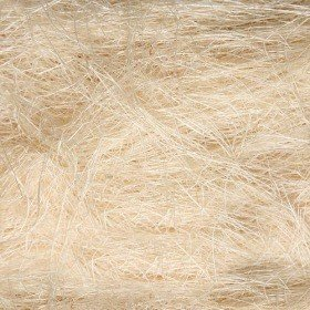 Natural sisal prepacked 50g bleached