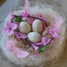 Natural whitened nest 8-12 cm