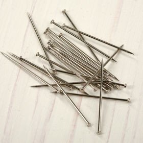 Nickel plated pins 28 mm 50g approx. 350 pcs