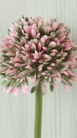 ONION FLOWER flower branch artificial leaf pink 38 cm 1 pc
