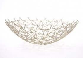 Openwork bowl, star -shaped 45cm