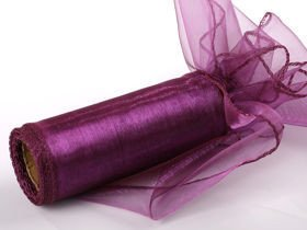 Organza GD 12 cm, 9 m length, bordered - PLUM