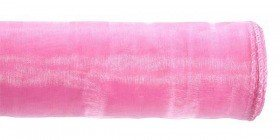 Organza GD 12 cm, length 9 m, bordered, PINK