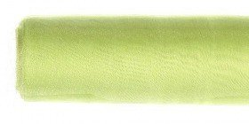 Organza GD width 12 cm, length 9 m, bordered GREEN APPLE