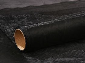 Organza, trimmed 12 cm, length 9 m (black)