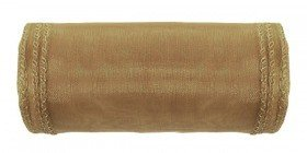 Organza trimmed, width 12 cm, length 9 m (gold)