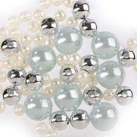 Original set (A) pearls ca. 250 pcs.silver-white-blue