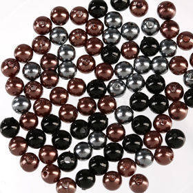 Original set (P) pearls ca. 250 pcs.silver brown black