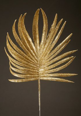 PALM LEAF WITH GOLD PLATE 28 CM